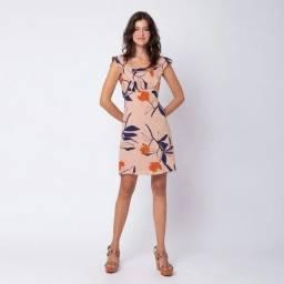 Vestido curto estampa florali tamanho M