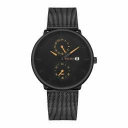 Relógio Masculino Yolako Ultra Fino Liga Malha