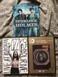 DVDs: Sherlock Holmes (Filme) e Ozzy Osbourne (edições especiais)