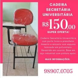 Cadeira Secretária Reta - Cadeira Universitária  - Mesa de Trabalho