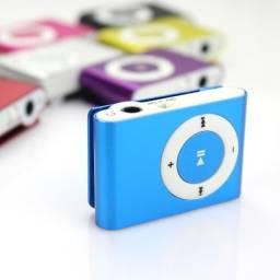 Mini MP3 Player Colorido com Entrada Cartão Micro SD - 80416