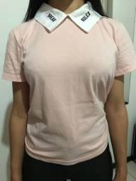 Camisa com gola polo