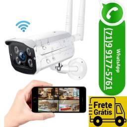 Camera Ip Externa Hd 360 Wifi Visão Noturna Prova D'agua Lampada (NOVO)