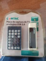 Placa de Captura Comtac TV externa analogica USB 2.0