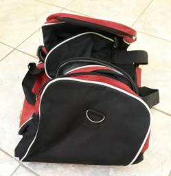 Bolsa/Sacola de Viagem Viaggiando Preto com Vermelho Conservada