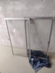 2 folhas de janela de vidro 1x1