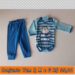 Conjunto body e calça R$ 35,00