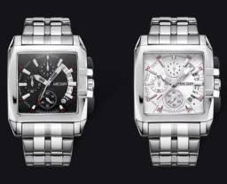 Relógio Masculino Megir Original Cronógrafo Funcional, Aço inóxidavel