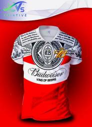 Camisa Camiseta Budweiser Personalizada