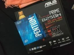 Placa mãe B250M Plus BR Asus e Pentium G4560