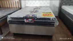 Conjunto box casal molas ensacadas 899.00 a vista