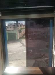 Porta de Vidro com fechadura e chave