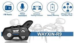 Intercomunicador WX-R9 para capacetes(moto) a prova d'água - Novo