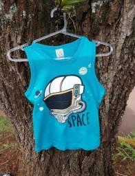 kit com 10 camisetas regatas  infantil