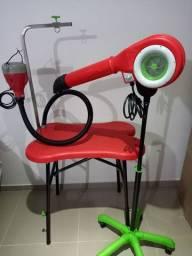 Mesa, secador e soprador