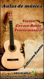 """Aulas de música """"violão, cavaco, banjo e teoria musical"""""""