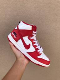 Nike SB Dunk High Future Court Red