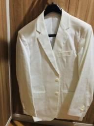 Título do anúncio: Blazer branco masculino impecável modelo italiano marca Frischmanns