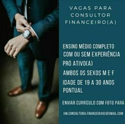 Vagas disponíveis para consultor de vendas!