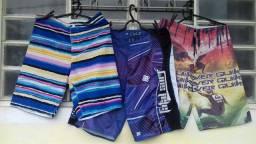 Bermudas elastano e jeans