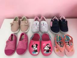 Lote de calçados menina - Tamanho 20