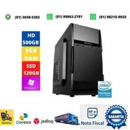 Título do anúncio: Computador dual core lga 1155 + memoria 8gb ddr3 + fonte 200w + hd 500gb + ssd 120gb
