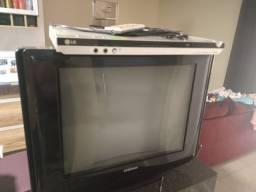 Tv com conversor Intelbras mais  DVD