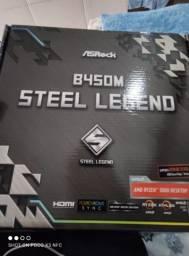 Placa mãe AsRock B450m Steel Legend