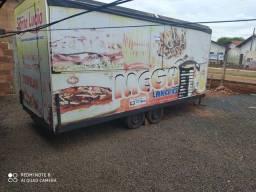 Trabalhe pra vc--Vendo Trailer Food truck trucado para Lanche Completo ano 2017 novinho