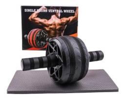 Título do anúncio: Roda Rolo Abdominal Lombar Grossa Musculação Profissional