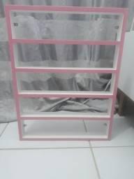 Expositor de esmalte rosa