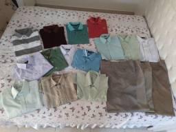 Vendo kit com camisas e calças sociais tamanho G