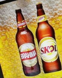 Título do anúncio: Vende se 24 Garafas de Cerveja Skol de 600 ml de Vidro