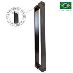 Puxador De Porta Preto Alumínio Porta Madeira Vidro 1 Metro