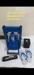 Máquina de fazer chinelo completa  *