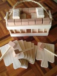 Kit 12 pecas tabua para caranguejo
