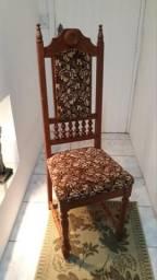Jogo de 6 cadeiras em estilo colonial