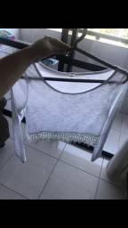 Blusa branca de manga