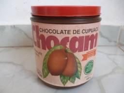 Embalagem do achocolatado de cupuaçu Chocam ano 1993, entrego
