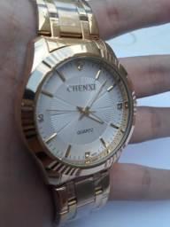 1ec2ca92410 Relógio Chenxi Dourado Masculino Quartzo De Luxo