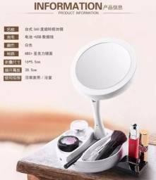 Espelho Maquiagem Led Dobrável Aumenta 10x 1x Foldaway 4999