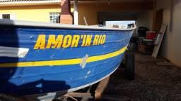 Barco+carreta+motor 25hp