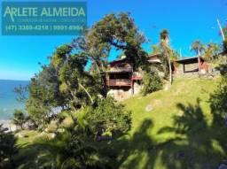 Casa para alugar com 2 dormitórios em Araca, Porto belo cod:232