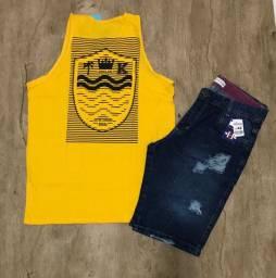 Camisas e shorts atacado