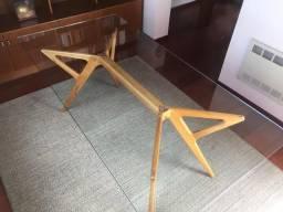 Mesa com vidro 6 cadeiras