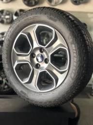 Roda EcoSport Freestyle 2019/2020 aro 16 original + Pneu Michelin LTX Force 205/60/16 novo