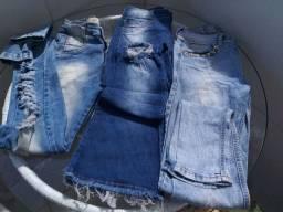3 Calças jeans 36 (colcci e outras)