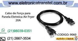 Cabo de Força 20 Ampéres Panela Elétrica, Air Fryer e Fritadeira Etc
