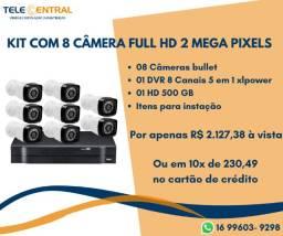 Kit digital 8 câmeras Full HD 2 mp