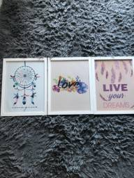 Conjunto 3 quadros (Poster + Moldura)